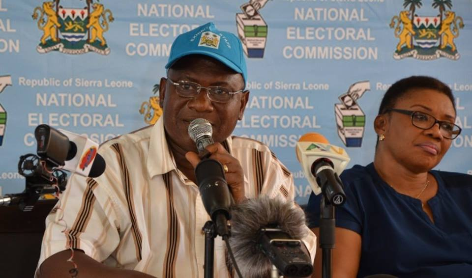 Chief Electoral Commissioner , Mohamed Nfah Alie Conteh