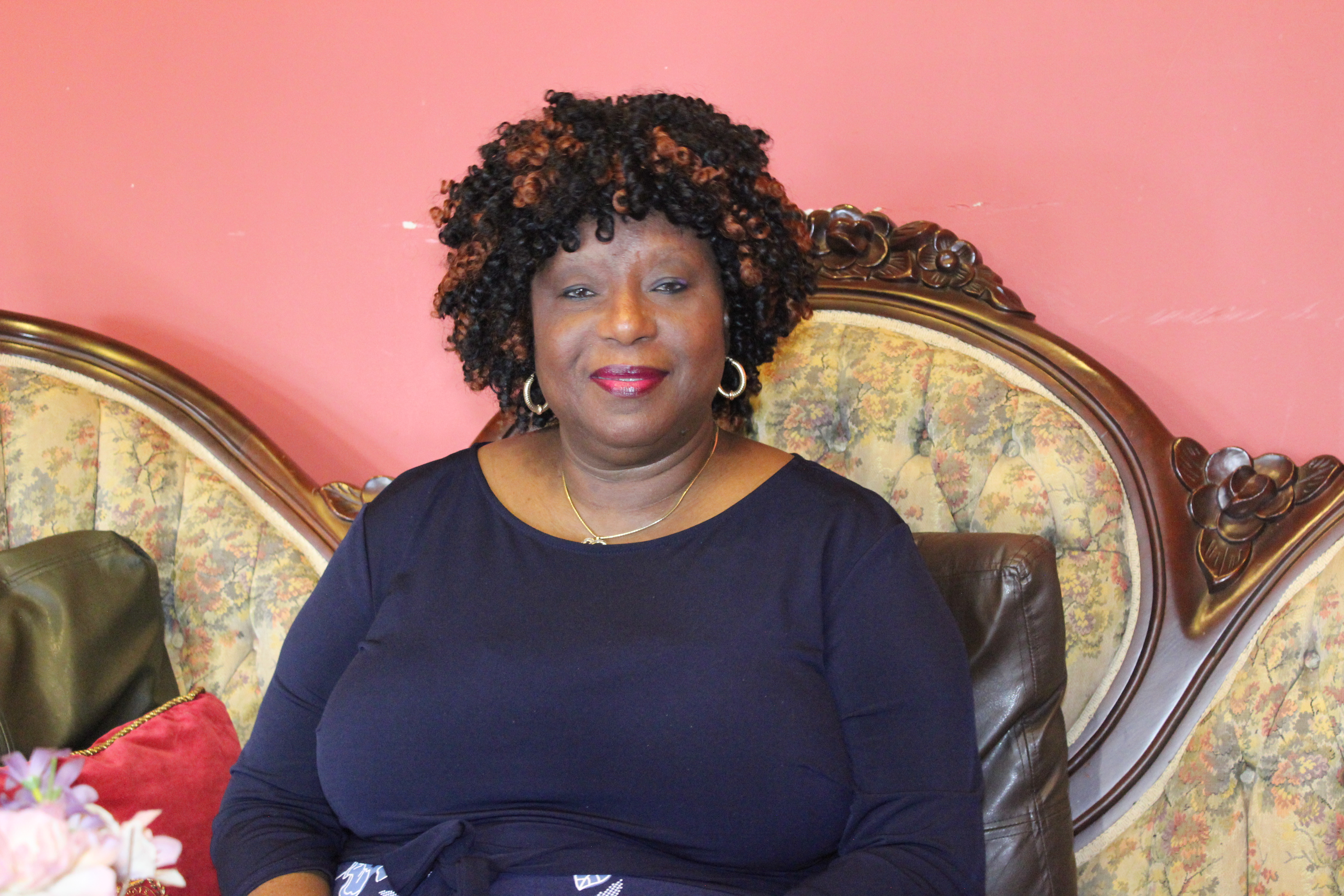 Founder and CEO Susan Dexter says the Victorian Candle Bed & Breakfast is at ease offering American and African cuisine . Photo Ben Bangoura, AlloAfrica News