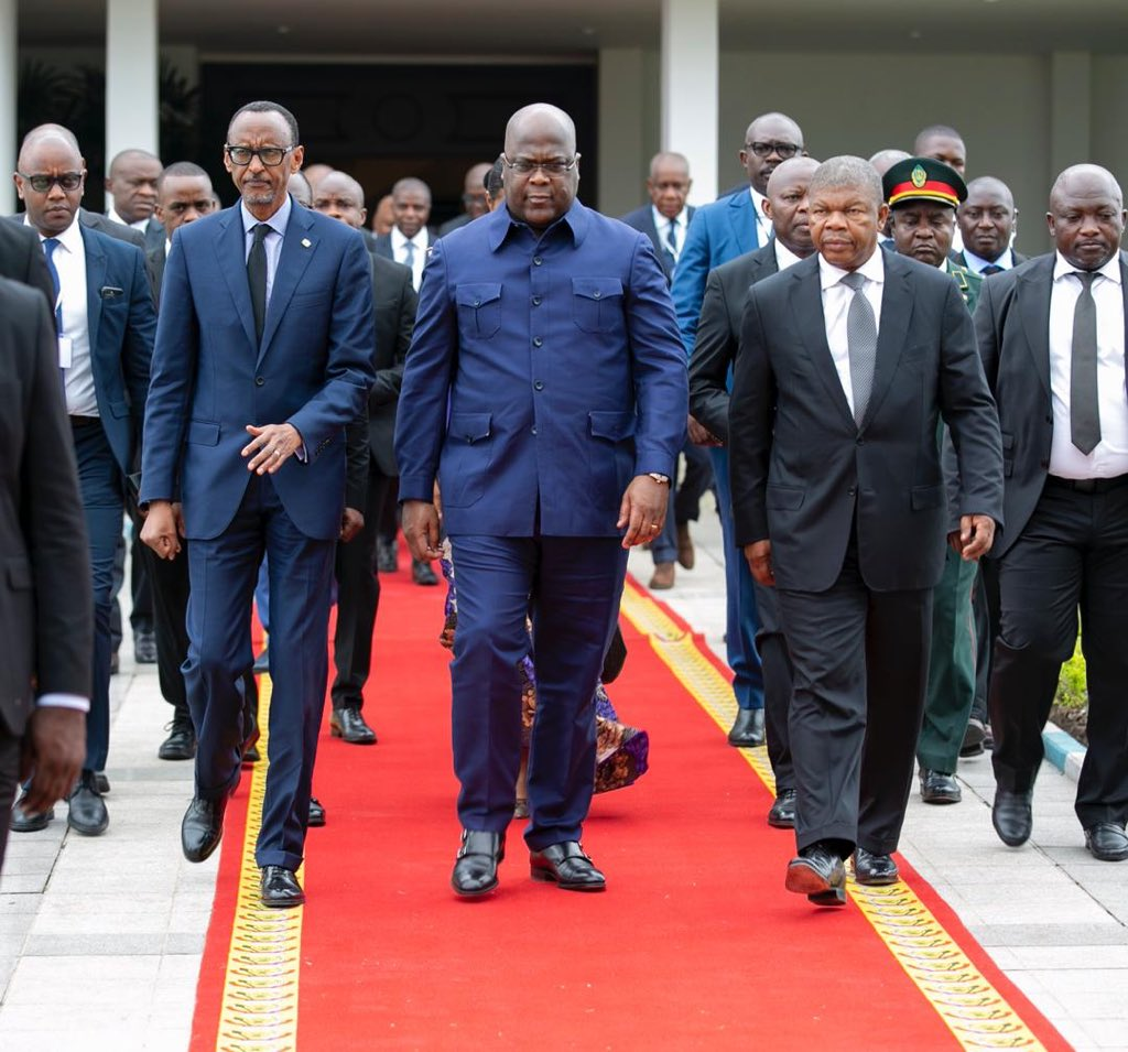 In May this year in Kinshasa, a summit was held summit which brought together President of DRC, Felix Tshisekedi, Paul Kagame of Rwanda and João Lourenço of Angola, In May this year in Kinshasa, DRC