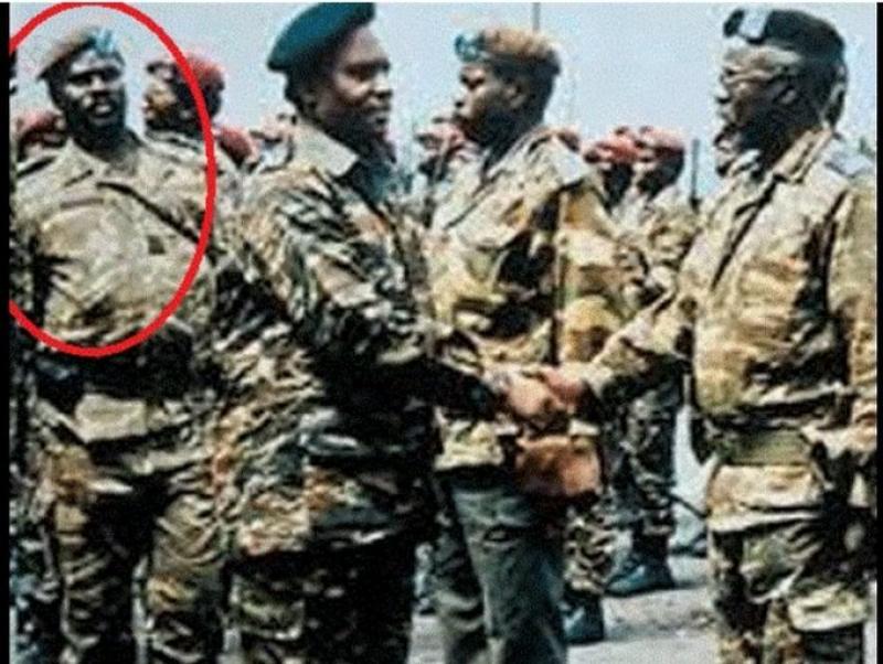 Mudacumura (in a circle) was deputy commander of presidential guard in Juvenal Habyarimana regime