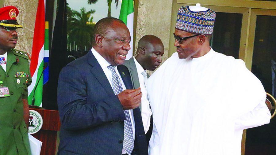 President Buhari with South African President Cyril Ramaphosa
