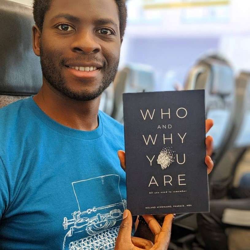 The Self-exploring book now available worldwide (photo: Facebook @ Roland Achenjang)