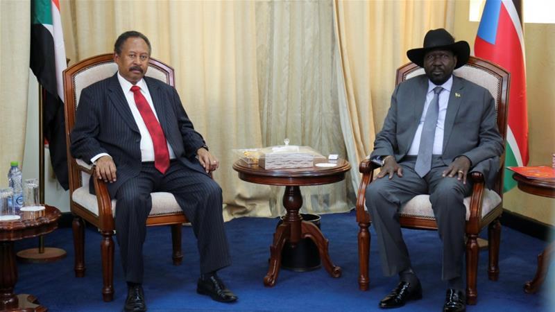 Sudan's Prime Minister Abdalla Hamdok met South Sudan's President Salva Kiir in Juba [Jok Solomun/Reuters]