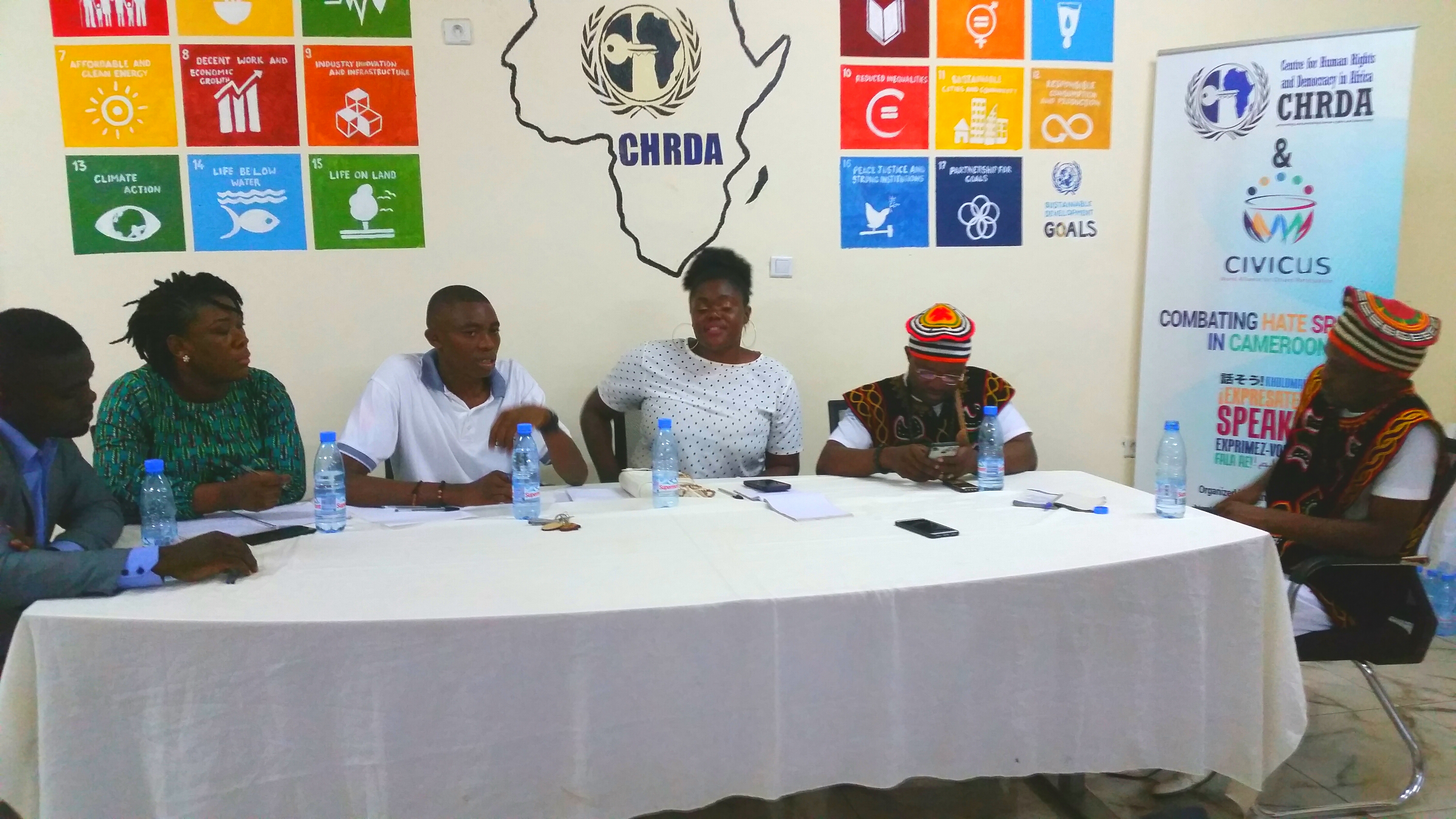 Speakers at the International day for Democracy organized by CHRDA