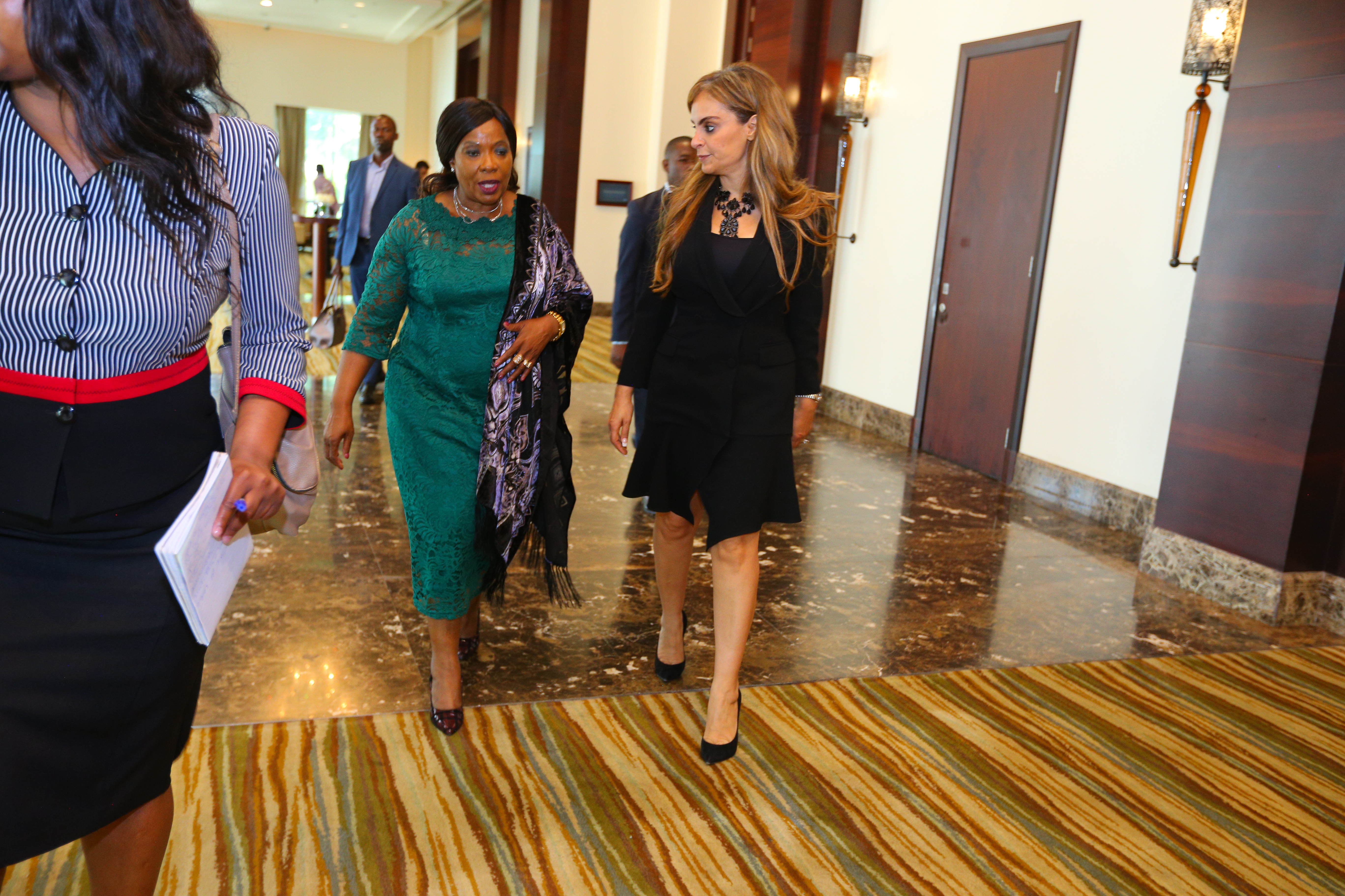 AUXILLIA MNANGAGWA, The First Lady of Zimbabwe and Ambassador of Merck More Than a Mother with Dr. Rasha Kelej, CEO of Merck Foundation and President, Merck More Than a Mother