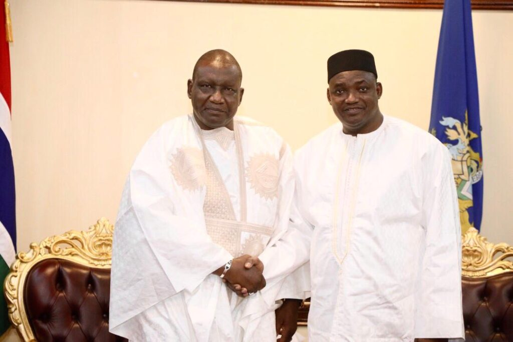 Amb Sene  with President Barrow