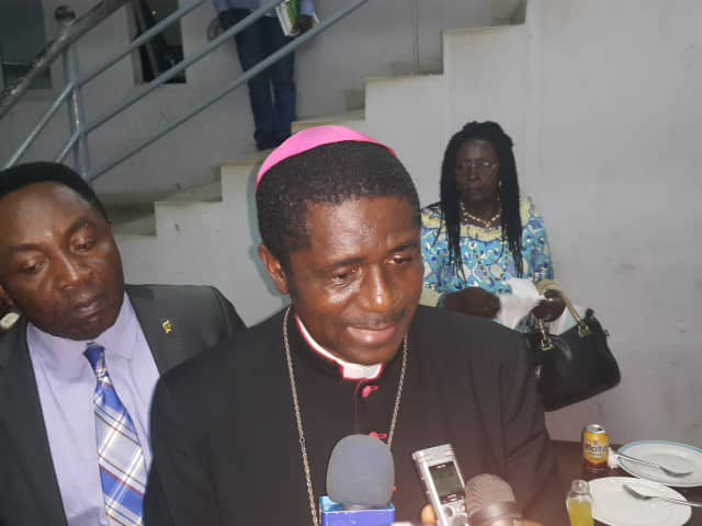 Bishop Andrew Nkea, head of the Regional Post Dialogue Sensitization Caravan