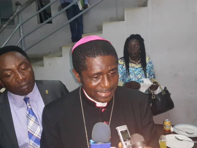 Bishop Andrew Nkea, head of the Regional Post Dialogue Sensitization Caravan