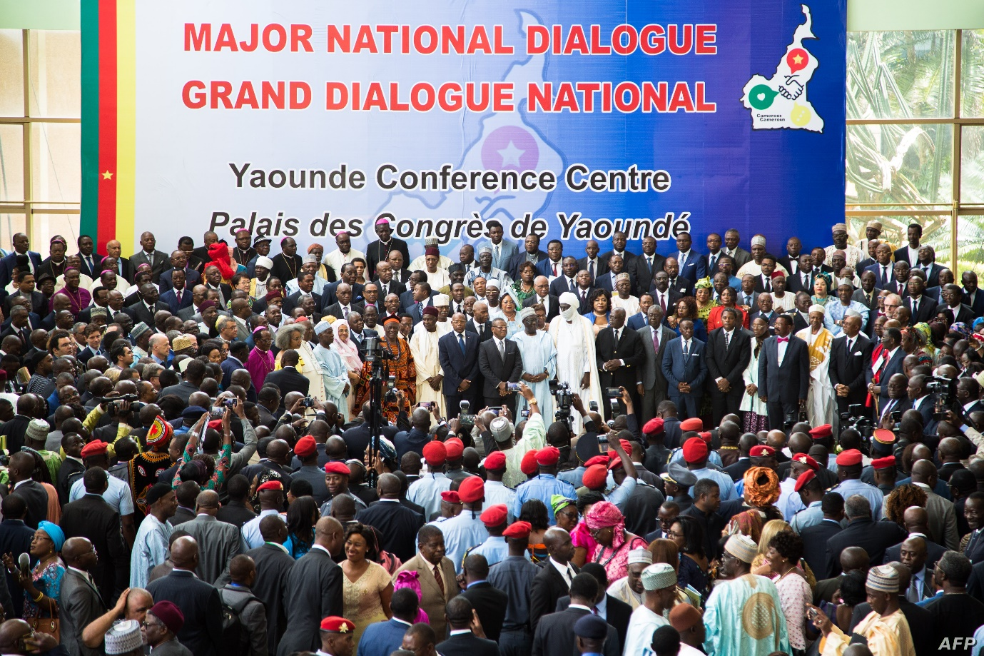 Attendees during the closing ceremony of the Major National Dialogue