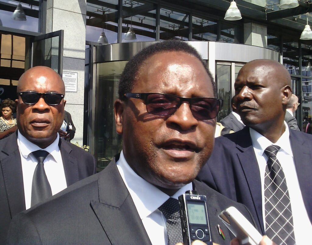 Opposition challenger Dr. Lazarus Chakwera
