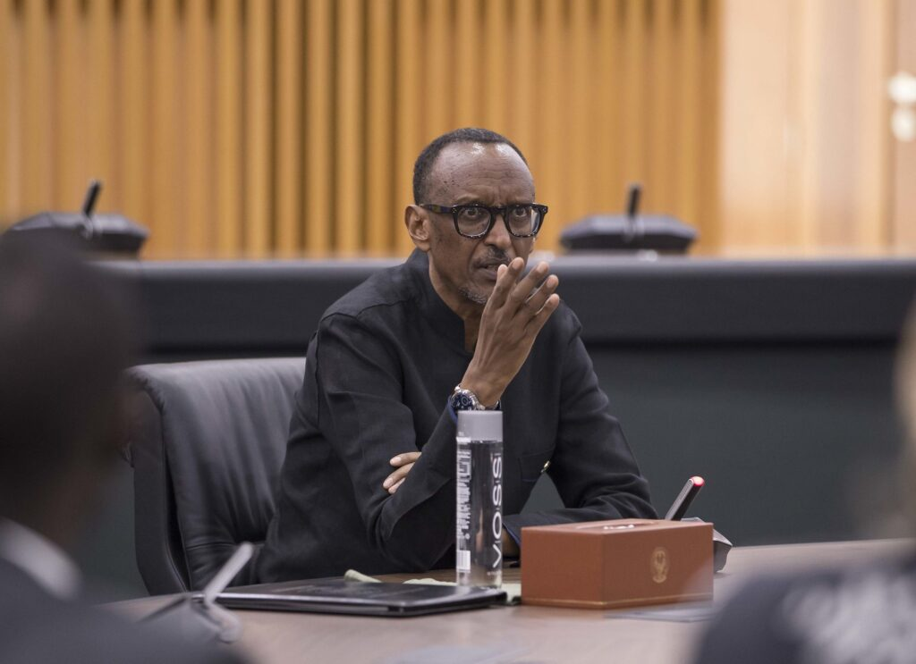 President Paul Kagame adressing media in the Capital Kigali on Friday 8th November 2019 (Photo by Urugwiro Village)