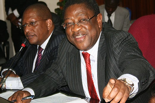 former Kenyan Attorney General and the current Senator Amos Wako