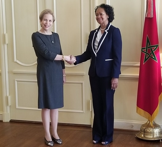 Her Highness Princess Lalla Joumala, Ambassador of the Kingdom of Morocco at a meeting with CCA President and CEO, Florizelle Liser in Washington, DC