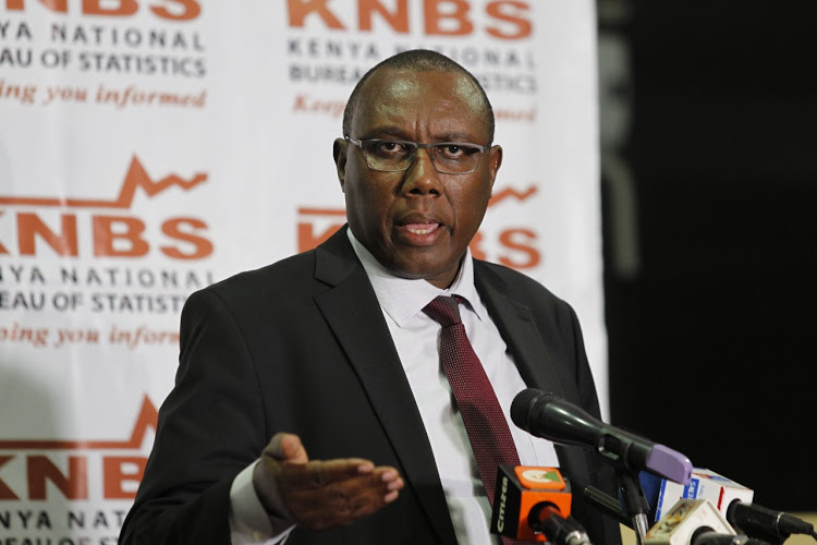 Kenya National Bureau of Statistics (KNBS) Director General Zachary Mwangi during a press conference on the upcoming census, July 8, 2019. PHOTO: MONICAH MWANGI Image: /FILE/Star Kenya
