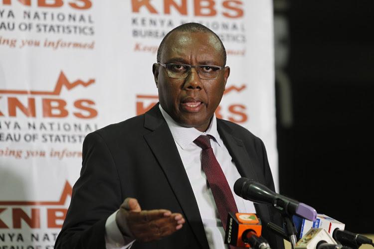 Kenya National Bureau of Statistics (KNBS) Director General Zachary Mwangi during a press conference on the upcoming census, July 8, 2019. PHOTO: MONICAH MWANGI Image: /FILE/Star Kenya