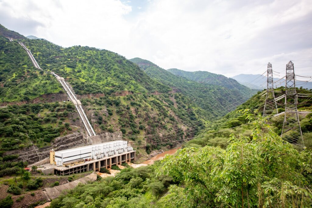 The hydropower plant Gilgel Gibe II in Ethiopia