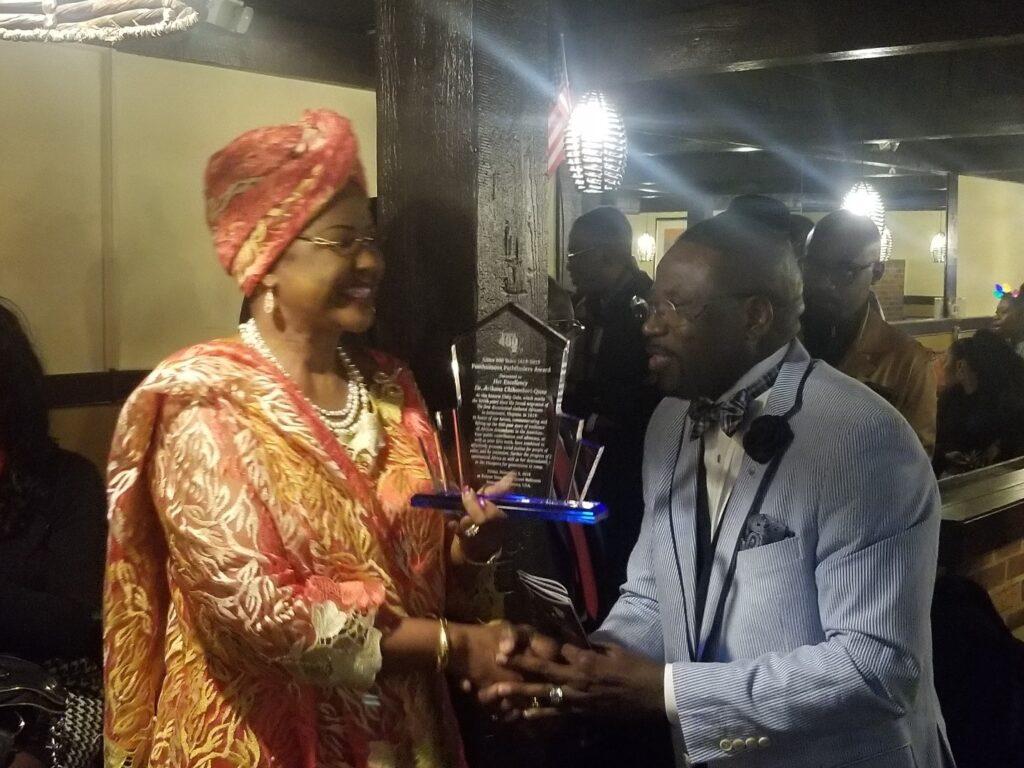 Ambassador Arikana receives award for promoting Pan-Africanism (photo: Amos Fofung for Pan African Visions)