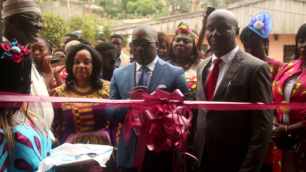 Barrister Balla, and other Dignitaries launched CHRDA's Empowerment Centre to train IDPS in tailoring, and others