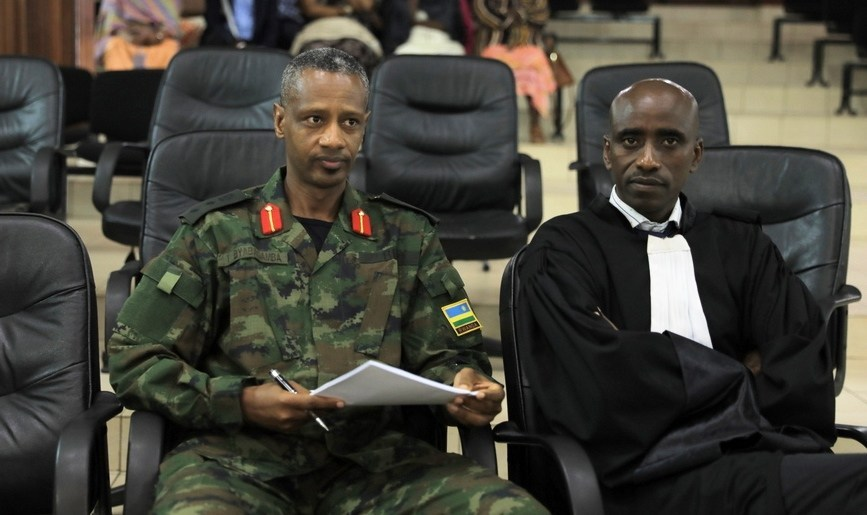 Byabagamba (left) was sentenced to 15 years in jail
