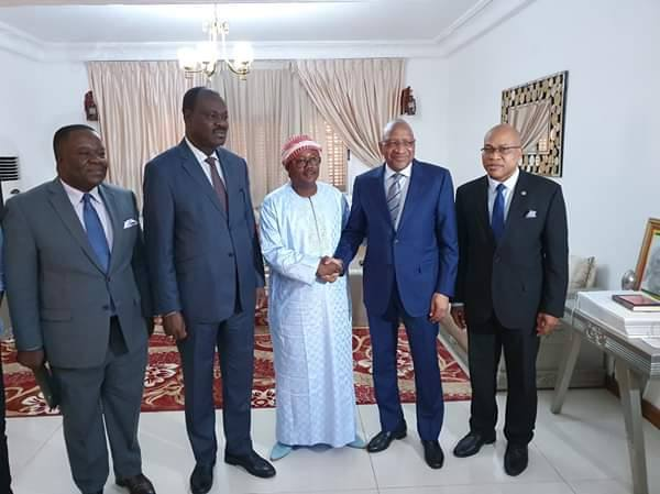ECOWAS Election Observer Delegation with two candidates
