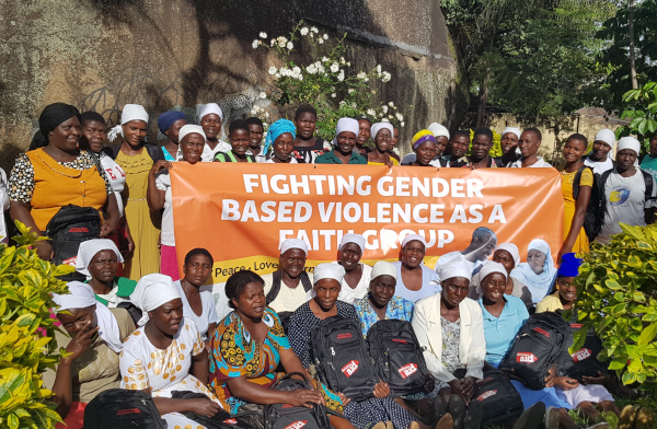 Fighting GBV as a faith group under .Photo AWET.