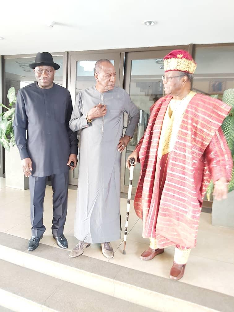 On the NDI delegation were former Nigerian President Goodluck Jonathan  and former President Nicephore Soglo. President Could learn from them that there is life after power