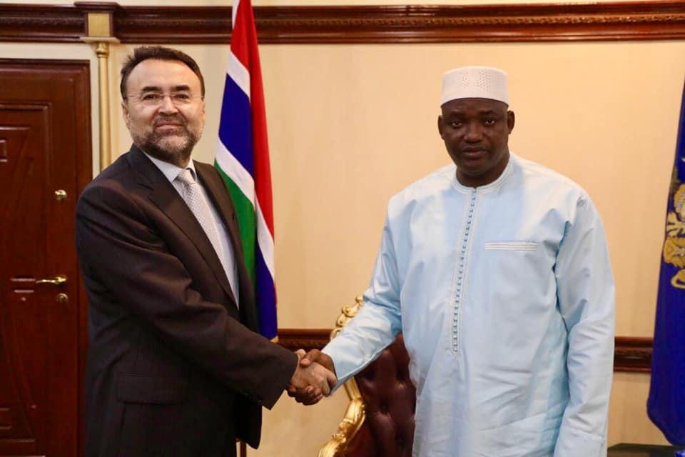Outgoing Turks Ambassador and Barrow