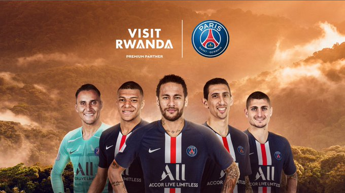 Rwanda entered in partnership with Paris Saint Germain, a french football club