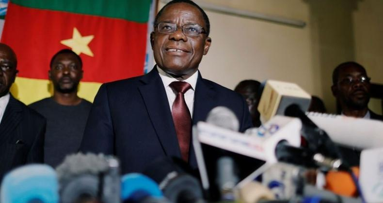 The Cameroonian government arrested opposition leader Maurice Kamto on Jan. 28. Kamto is shown in October during his unsuccessful campaign for president of Cameroon. (Zohra Bensemra-Reuters
