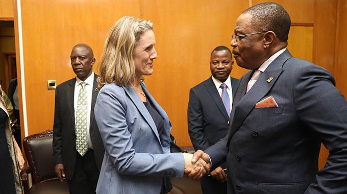 Vice President Constantino Chiwenga meets the British Ambassador to Zimbabwe, Melanie Robinson at Munhumutapa Offices in Harare, Dec 09, 2019.-Picture credit : Tawanda Mudimu,Zimbabwe Voice