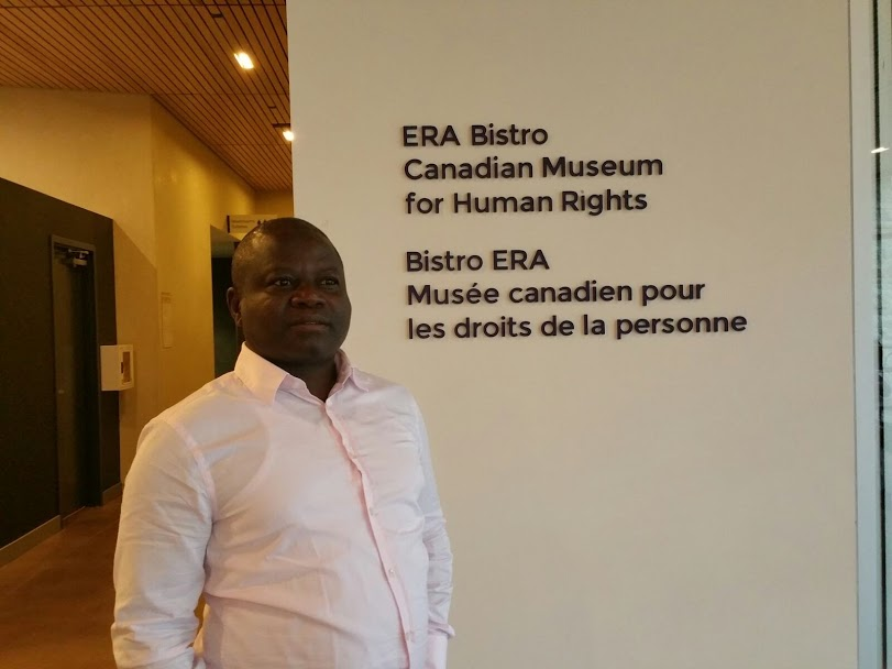 Once the people feel abandoned and unprotected, they take to self-defence which is what is happening in the territory at this material time, says Barrister Ajong pictured here during a visit to   the Canadian Museum For Human Rights
