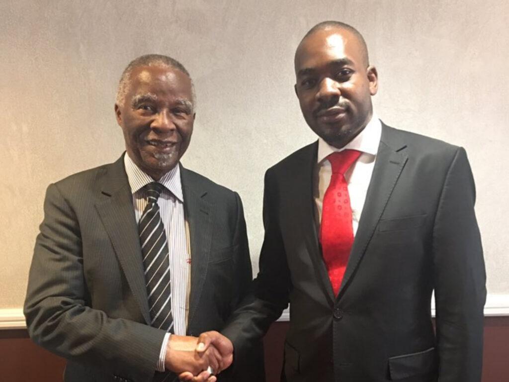 Former President Mbeki also met with Nelson Chamisa