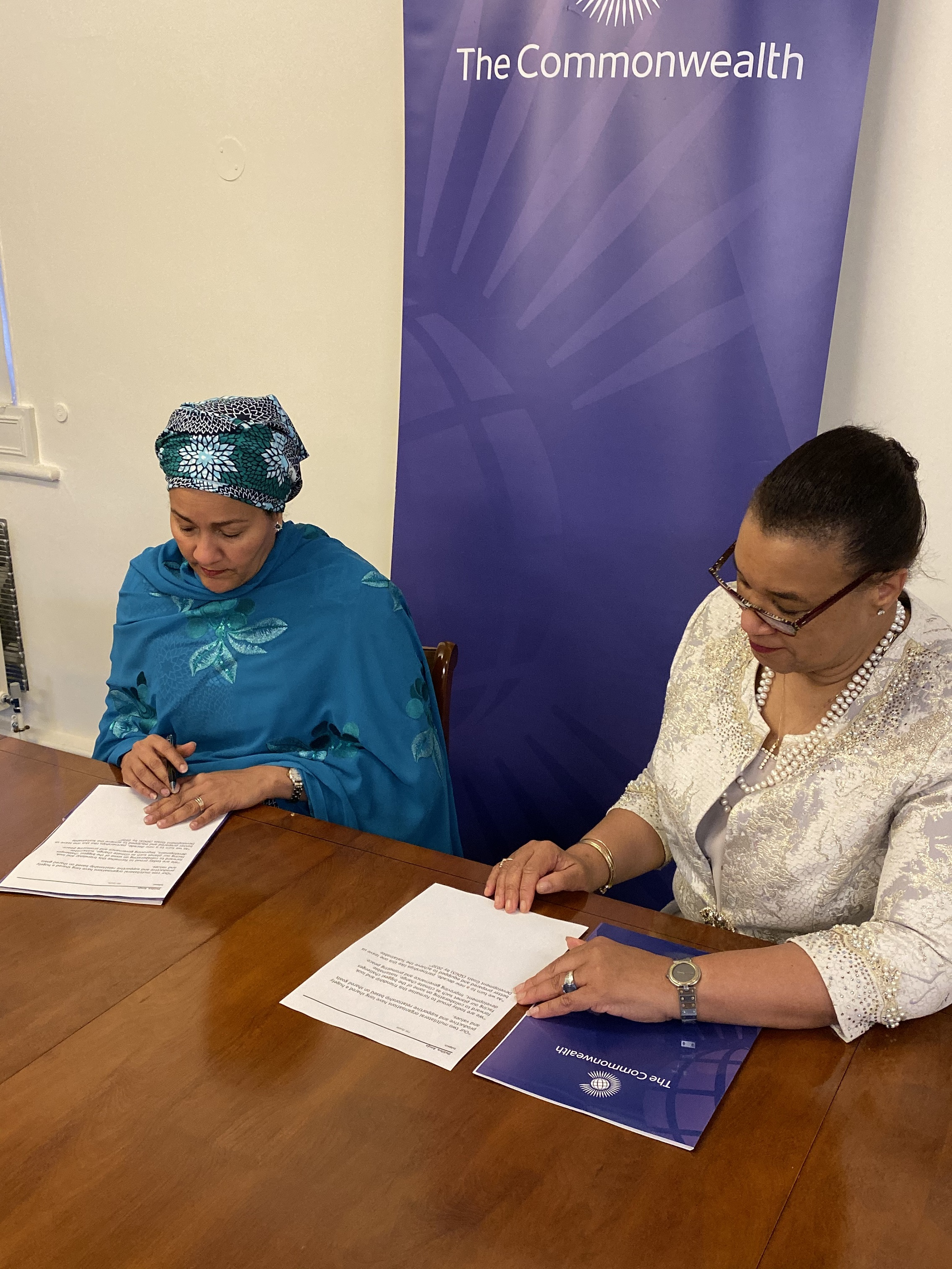 Commonwealth Secretary-General Patricia Scotland and United Nations Deputy Secretary-General Amina Mohammed