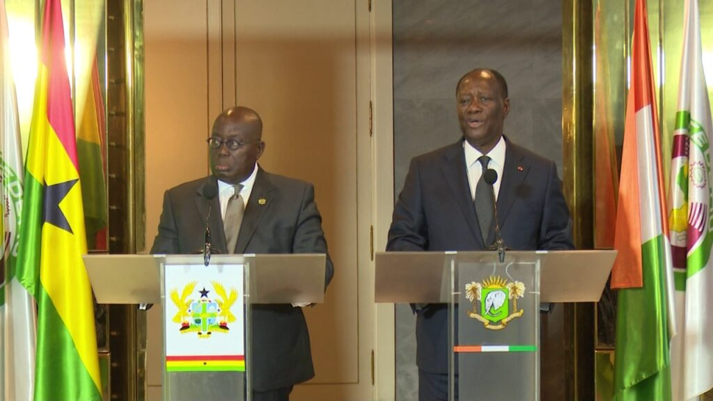 Akufo Addo of Ghana and Alassane Ouattara of Ivory Coast