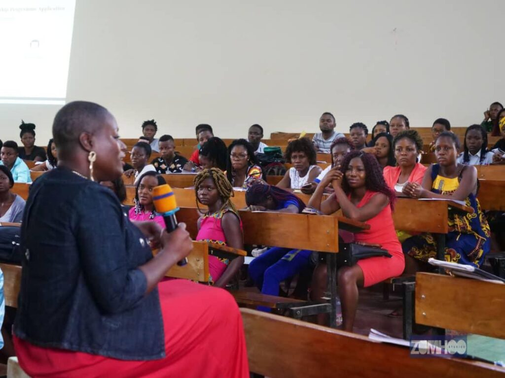 It was a rich exchange between the seasoned professional that Angelle Kwemo is and dynamic students eager to benefit from TEF initiatives