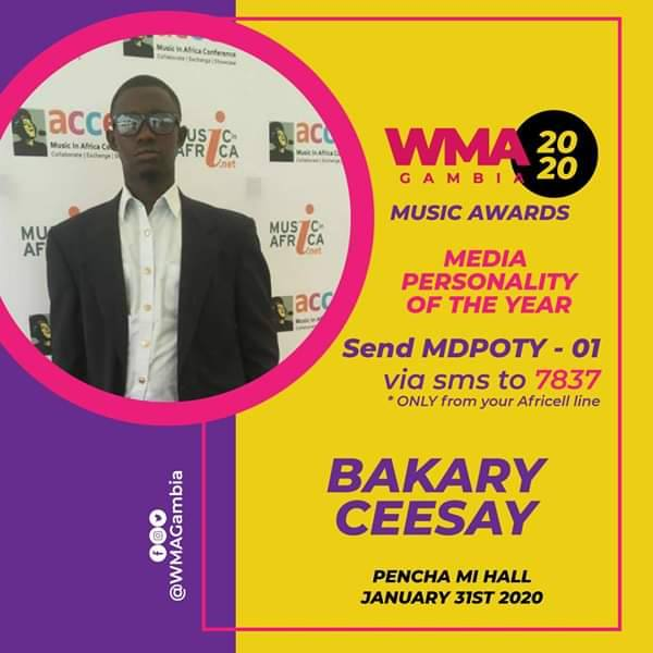The award is a big milestone for Ceesay