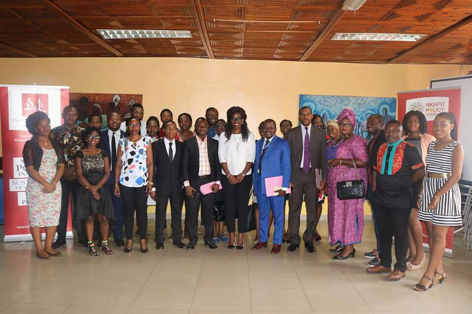 Debaters, participants, Foretia team pose after the conclusion of the 4th Nkafu Debate in Yaounde, Cameroon