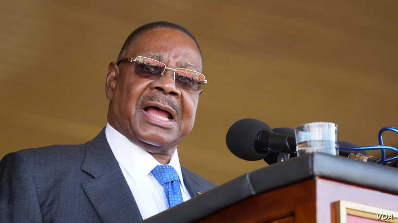 President Peter Mutharika and the Malawi Electoral Commission are accused of rigging the last elections.Photo Credit Lameck Masina, VOA