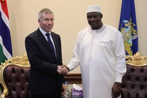 New Turkey Ambassador with President Barrow