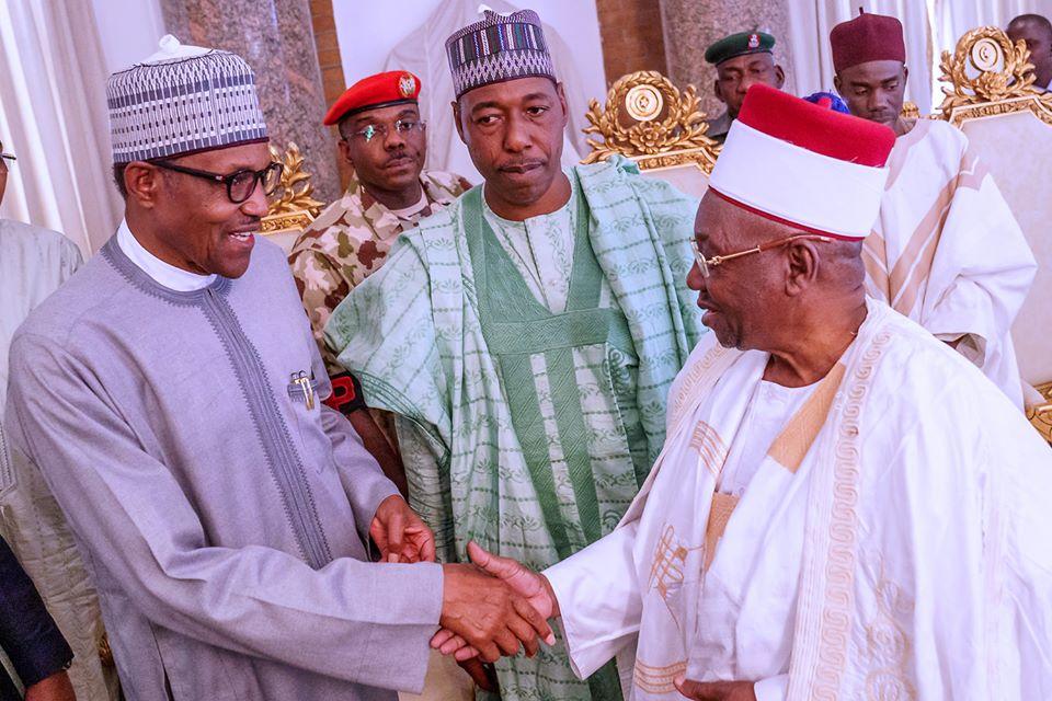 President Muhammadu Buhari was on a Sympathy Visit to Borno State over Recent Terrorists Attacks on 12th Feb 2020.Photo credit Buhari Sallau