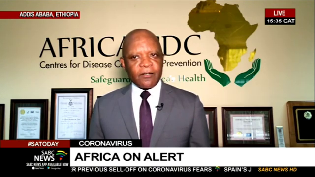 Dr John Nkengasong, Africa Centres for Disease Control and Prevention speaking to SABC News on the corona virus outbreak