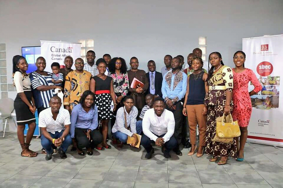 Participants and panelists at the conclusion of the 2020 Small Business and Entrepreneurship Networking Forum organized by SBEC