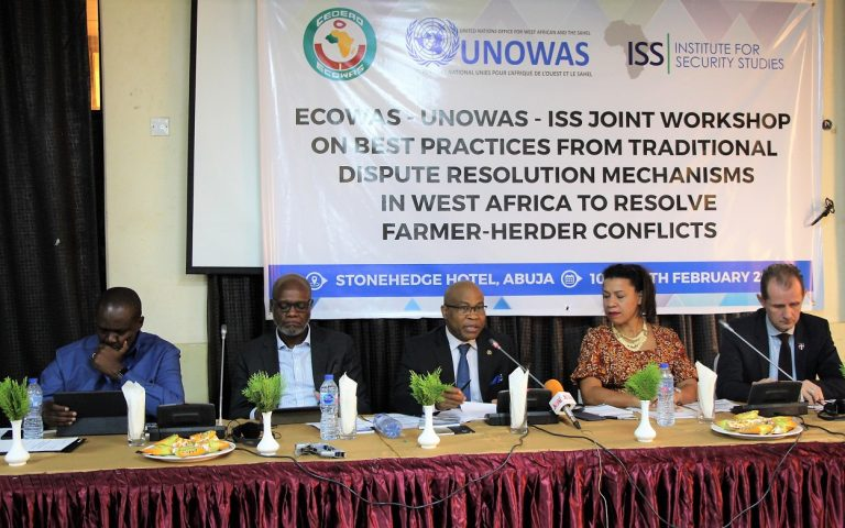 R-L Amb Jesper Kamp, Ngozi Amu, Dr. Aderemi Ajibewa, Dr. Paul Handy and Mr. William Tsuma