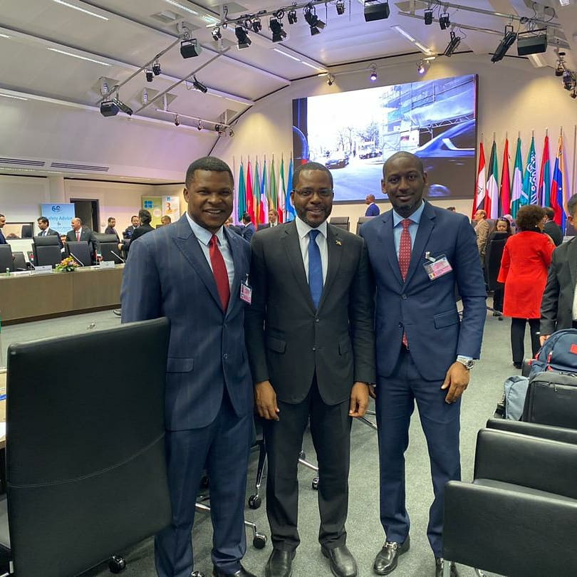 Power Brokers in the African Energy Sector, NJ Ayuk , Executive Chairman of the African Energy Chamber with Gabriel Mbaga Obiang Lima , Minister of Mines, Industry &Energy  of Equatorial Guinea