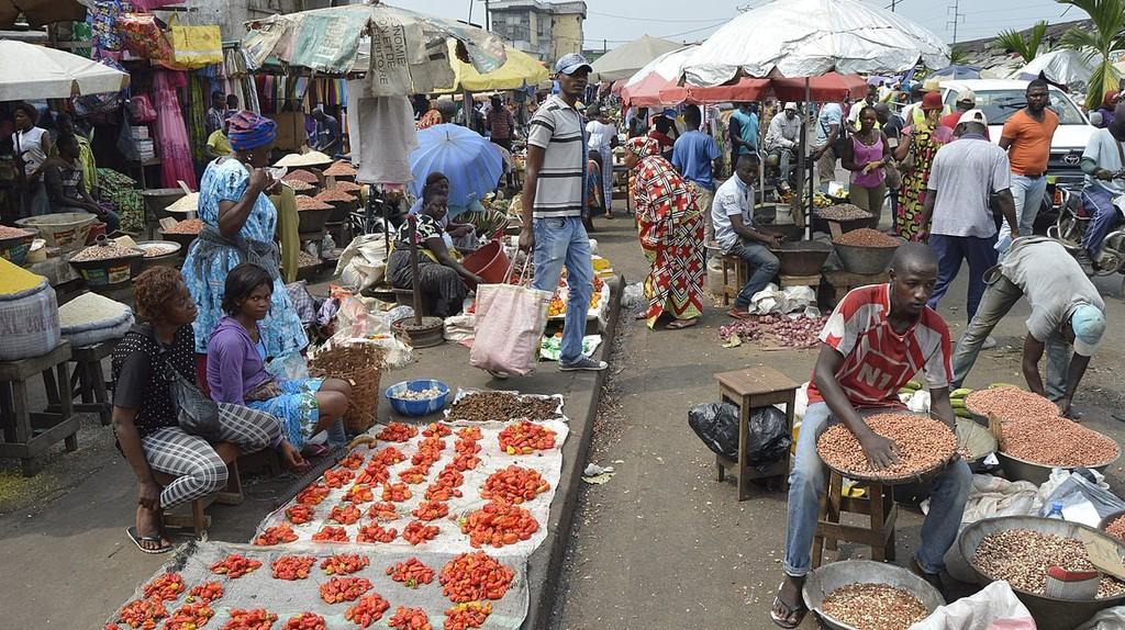 A market in Cameroon .Photo Tony Vinyoh