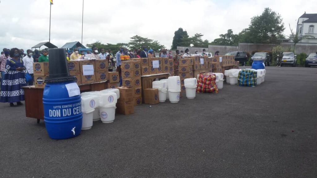 CERAC's gifts for the fight against the coronavirus in Cameroon