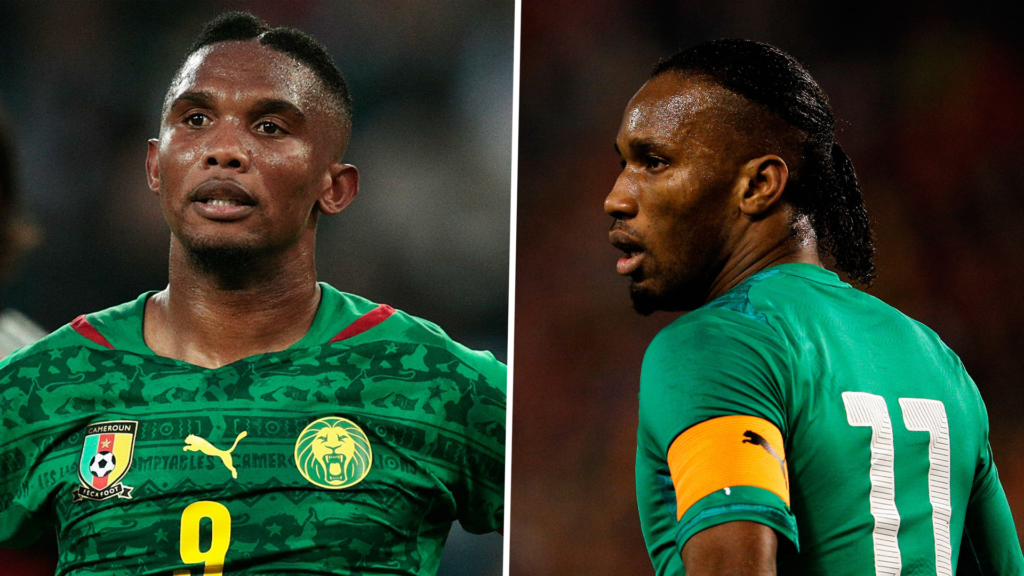 L-R Samuel Eto'o and Didier Drogba blast calls for the test of a potential vaccine for the deadly coronavirus to be carried out in Africa