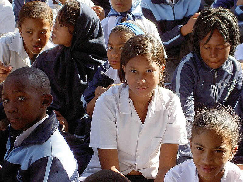 School children at Imperial Primary School in Eastridge, Mitchell's Plain ,Cape Town, South Africa.Photo credit Henry Trotter