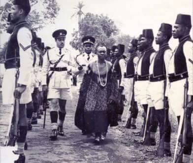 File Picture, Prime Minister John Ngu Foncha inspects a  guard of honour at an official function