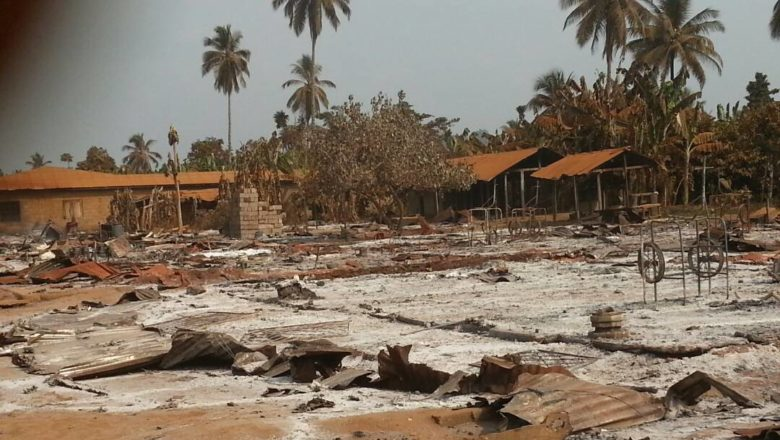 Images of what was left of Kwa Kwa village after it was razed by the military